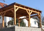 Holz-Carport, Doppelcarport mit Pultdach