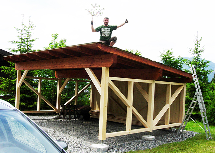 Holz carport nach maß projektfotos von kunden