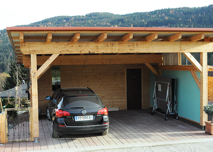carport mit schuppen awesome beautiful holzgarage mm. Black Bedroom Furniture Sets. Home Design Ideas